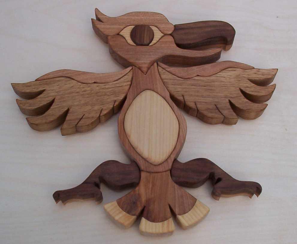 Intarsia haida eagle