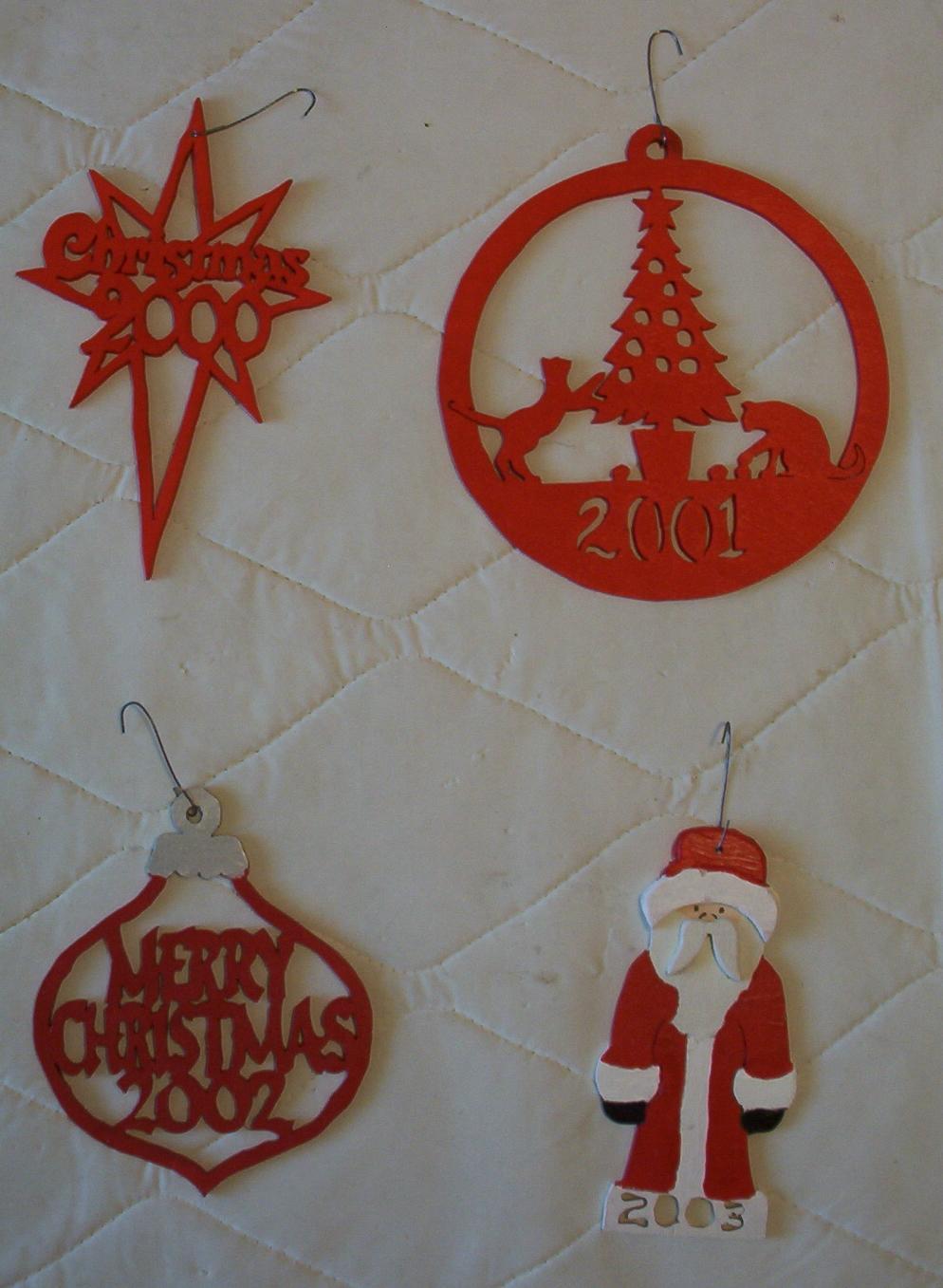 Scrollsaw xmas ornaments