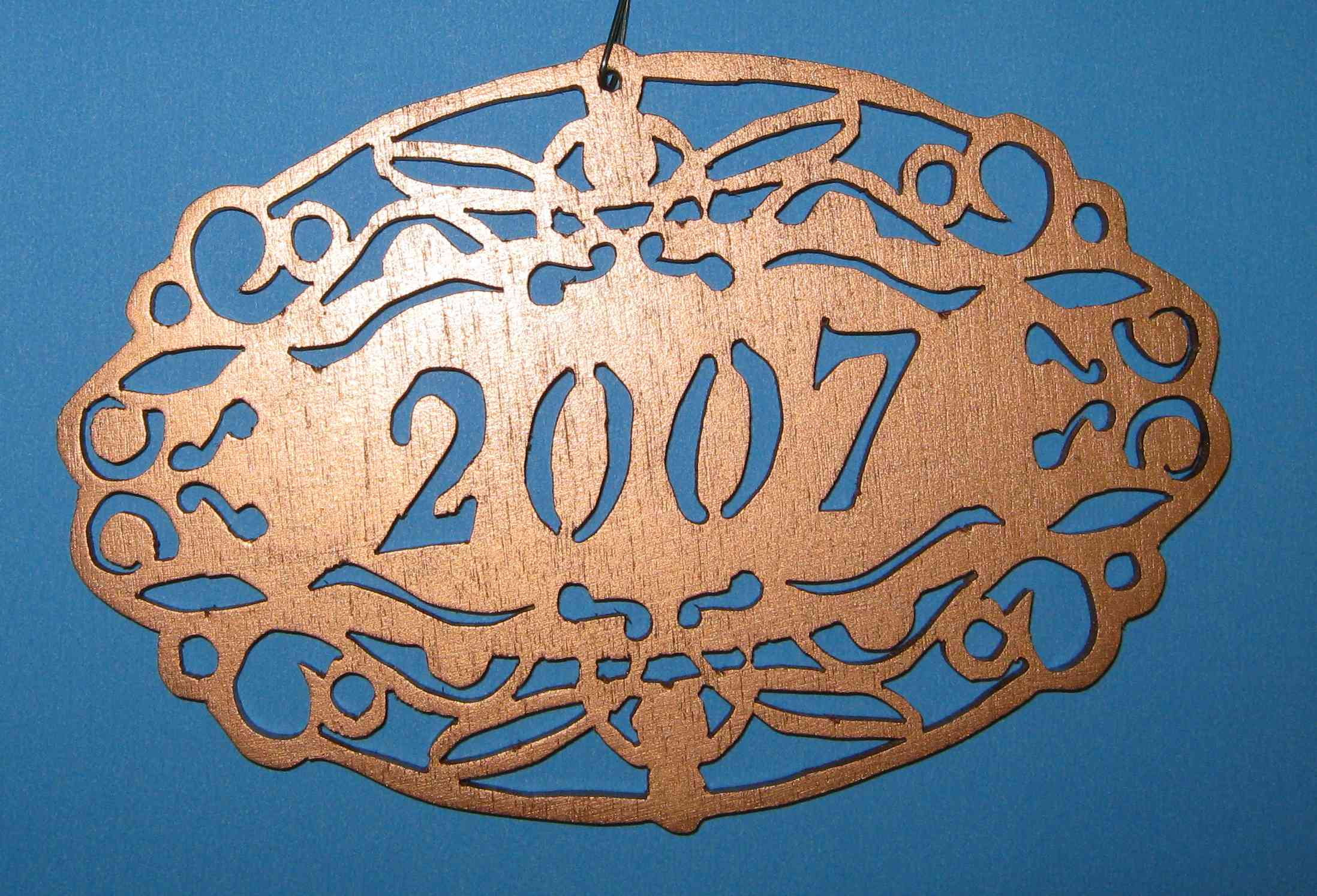 dated ornament for 2007
