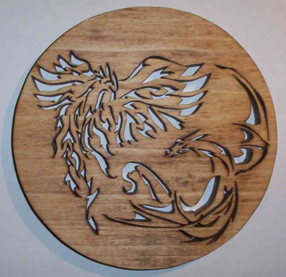 fretwork dragon & phoenix